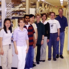 """Members of James Bliska's lab. In his Research Matters he says """"I try to foster a laboratory environment in which all members (technicians, graduate students, postdocs, and principal investigators) can serve as scientific role models."""""""