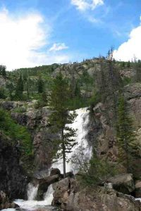 Fish Creek Falls, near Steamboat Springs. One of the places where meeting participants have been known to meet informally for scientific discussions. (Image credit: Michael Lichten)