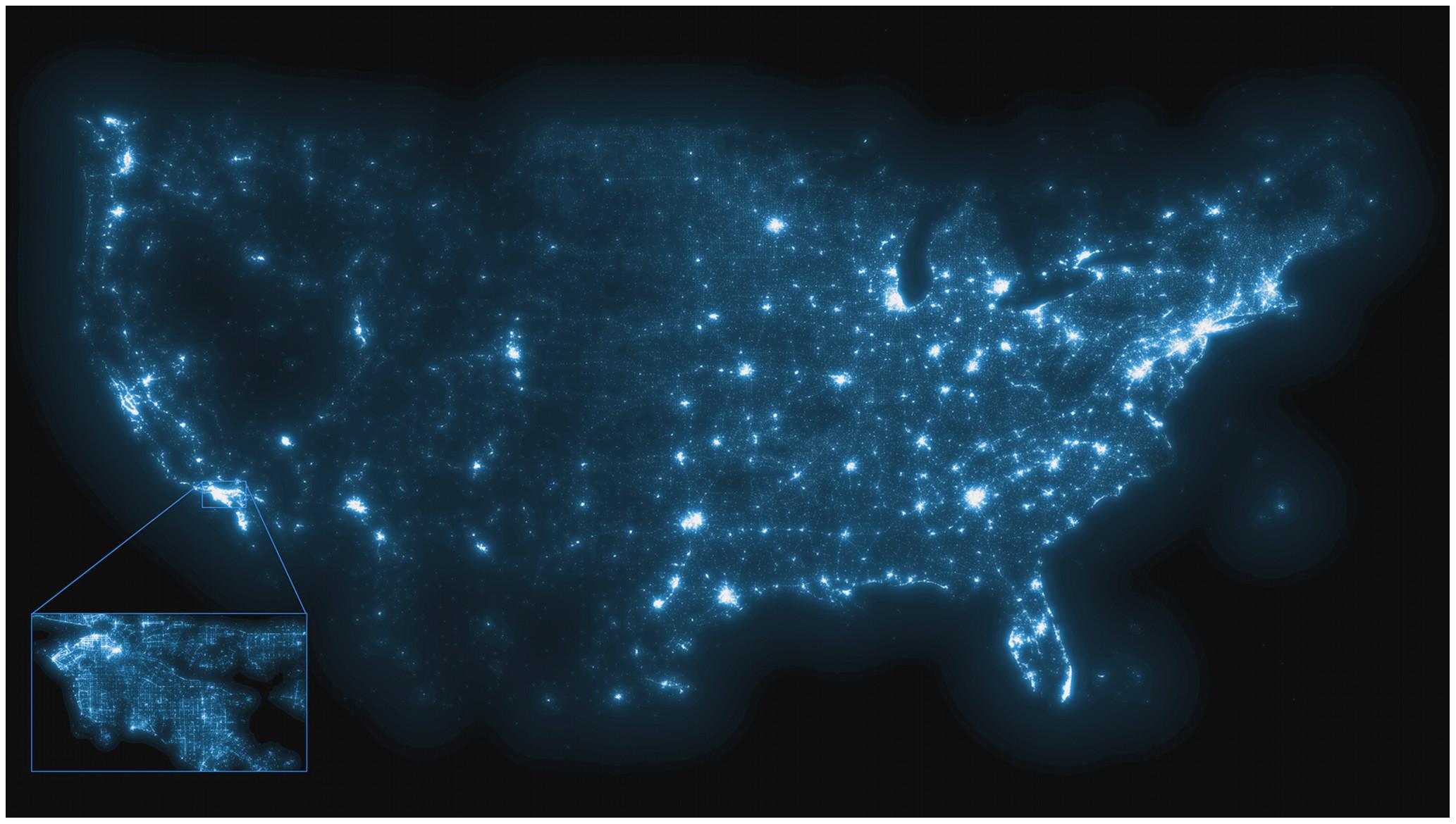 Map generated by more than 250 million public tweets Credit: Salathé et al.