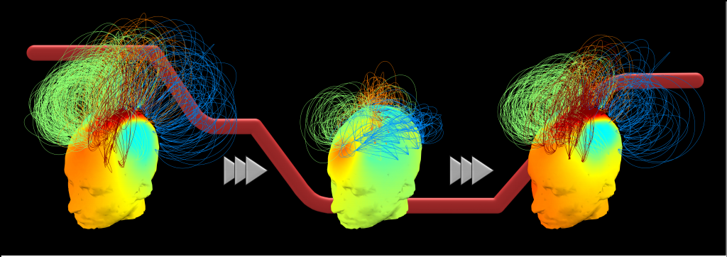 Alpha band connectivity networks. Image Credit: Chennu et al.