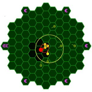 Computer-based multi-client game for investigating human group movement. Image credit: Johannes Pritz, Courant Research Centre Evolution of Social Behavior, University of Gõttingen, Germany.
